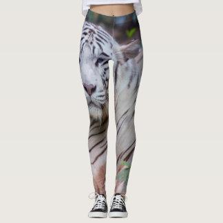 Polainas blancas del tigre leggings