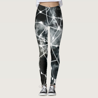 Polainas blancas negras leggings