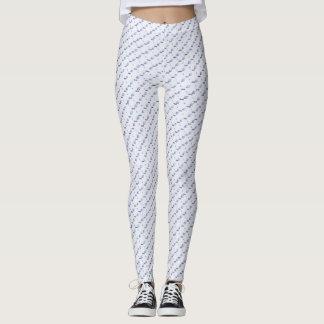 Polainas blancas y azules leggings