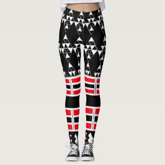 Polainas blancos y negros geométricas leggings