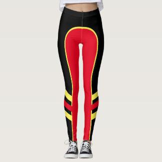 Polainas brillantes 1 de la banda lateral del leggings