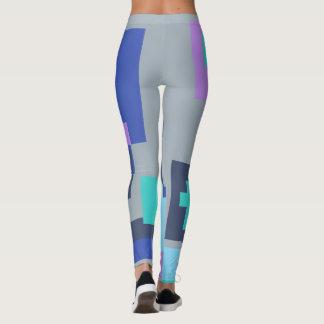Polainas coloreadas de las formas leggings