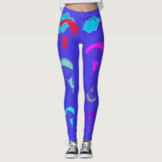 Polainas coloridas azules brillantes del leggings