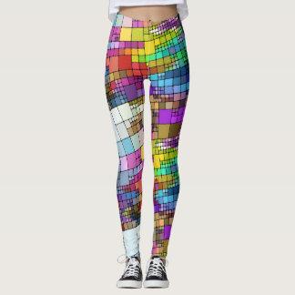 Polainas coloridas de los bloques leggings