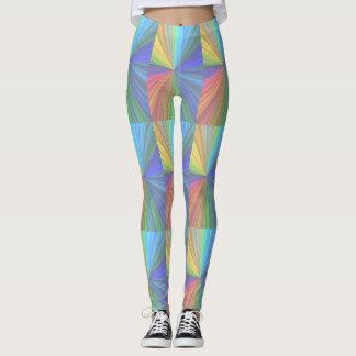 Polainas coloridas enrrolladas leggings