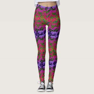 Polainas coloridas vibrantes de la diversión leggings