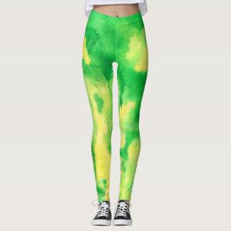Polainas de color verde amarillo leggings