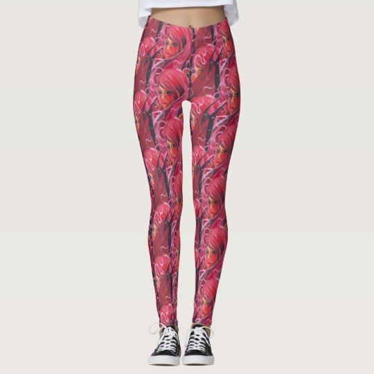 Polainas de hadas de la impresión de la flor leggings