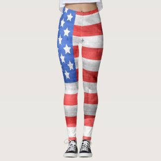 Polainas de la bandera americana leggings