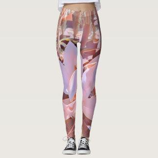 Polainas de la magnolia en rosado y marrón leggings
