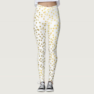Polainas de la moda del confeti del oro leggings