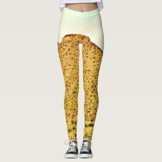 Polainas de la montaña del oro de las mujeres leggings