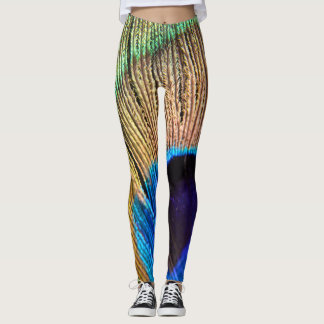 Polainas de la pluma del pavo real leggings