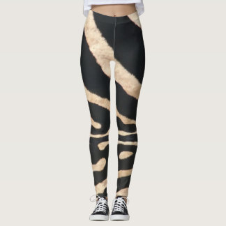 Polainas de la raya de la cebra leggings