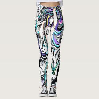 Polainas de la sirena de la geometría leggings