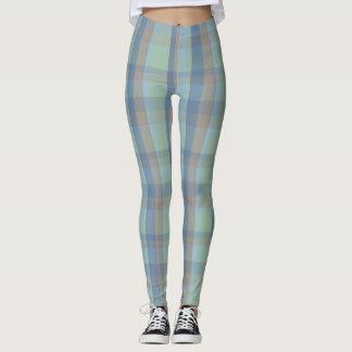 Polainas de la tela escocesa de tartán del verano leggings
