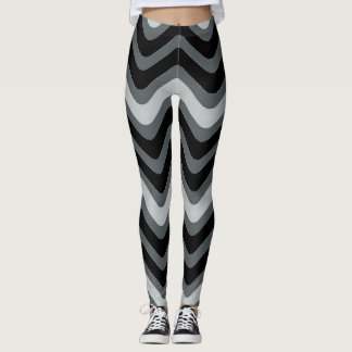 Polainas de las líneas mujeres onduladas leggings