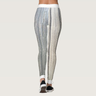Polainas de madera ligeras de la textura leggings