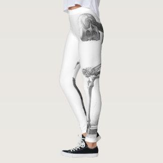 Polainas de pensamiento del esqueleto del vintage leggings