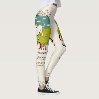 Polainas del arte de los niños del vintage leggings