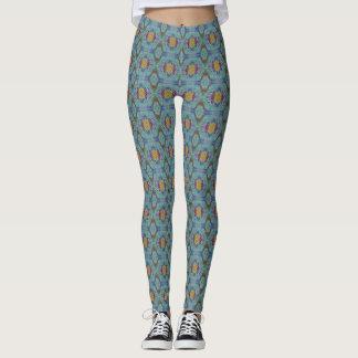 Polainas del batik de la opción 2 de la ágata 1 leggings