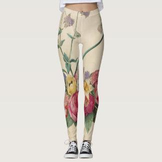 Polainas del diseño floral del vintage leggings
