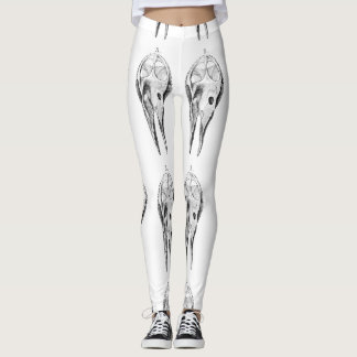 Polainas del esqueleto del lagarto del vintage leggings