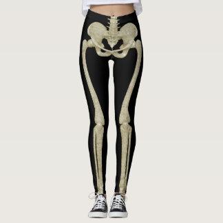 Polainas del esqueleto del traje del fiesta de leggings