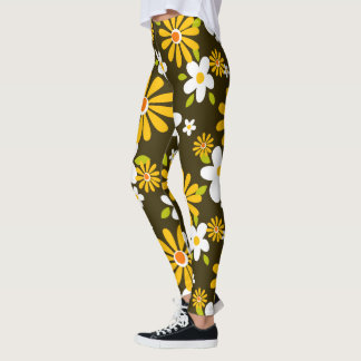 Polainas del estampado de plores leggings
