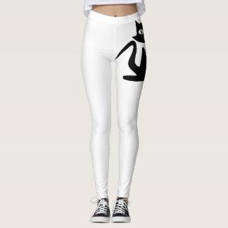 Polainas del gato (blancas) leggings