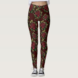 Polainas del modelo de flores del vintage leggings