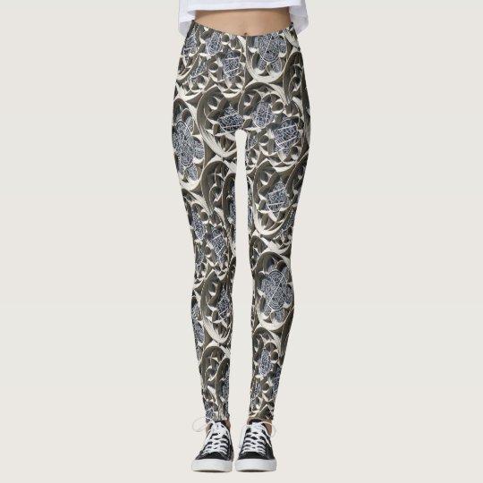 Polainas del modelo del diseño del vitral leggings