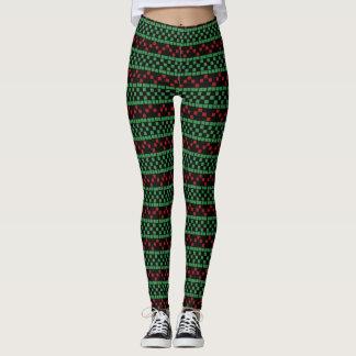 Polainas del navidad - color de fondo adaptable leggings