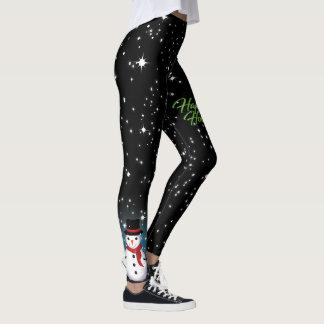 Polainas del negro de la noche estrellada leggings