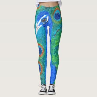 Polainas del pavo real leggings