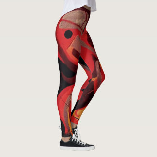 Polainas del rojo de Cockatequila Leggings
