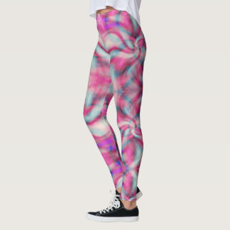 Polainas del teñido anudado leggings