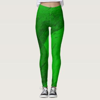 Polainas del verde esmeralda leggings