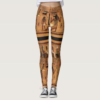 Polainas egipcias antiguas del papiro de los leggings