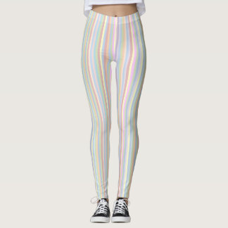 Polainas en colores pastel de la raya leggings