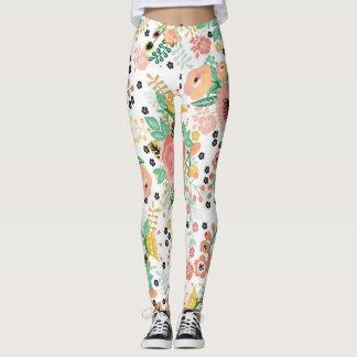 Polainas florales de la primavera leggings