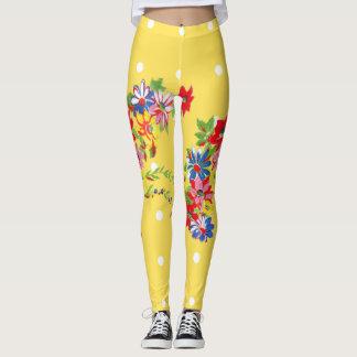 Polainas florales del vintage leggings