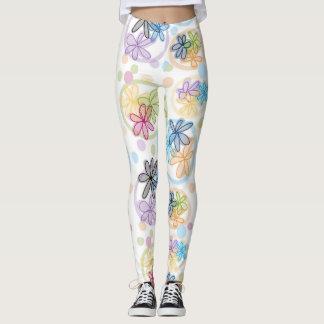 Polainas florales lineares leggings