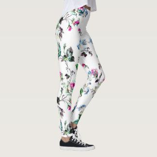 Polainas florales rosadas hermosas de la flor leggings
