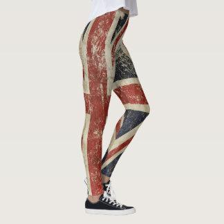 Polainas frescas con la bandera del vintage de leggings