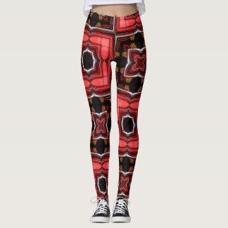 Polainas geométricas de la luz roja clásica de la leggings