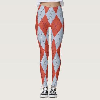 Polainas geométricas de los pantalones de Argyle