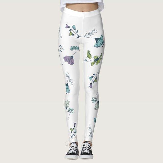 Polainas grandes de la flor leggings