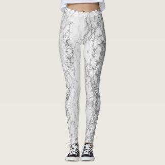Polainas grises y blancas veteadas leggings