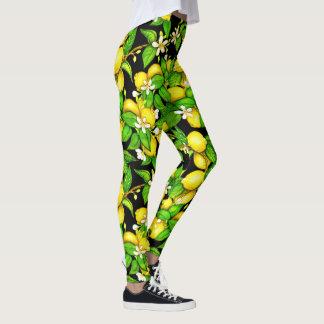 Polainas jugosas del limón leggings